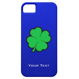 Trébol de la hoja del azul 4 iPhone 5 Case-Mate funda