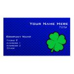 Trébol de la hoja del azul 4 tarjetas de visita