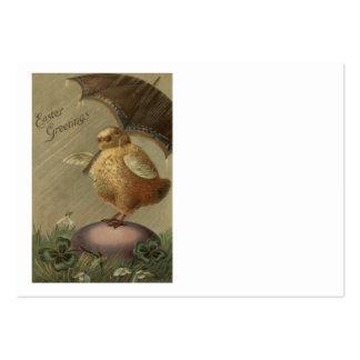 Trébol de la hoja del paraguas cuatro del polluelo tarjetas de visita grandes