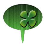 Trébol de la hoja del verde cuatro figuras de tarta