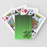 Trébol de la hoja del verde cuatro baraja cartas de poker