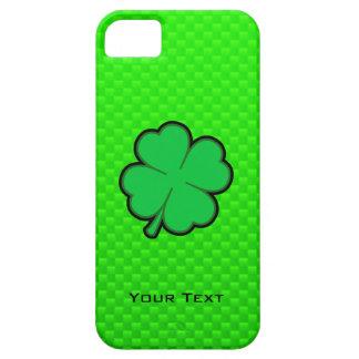 Trébol de la hoja del verde cuatro iPhone 5 Case-Mate cárcasas