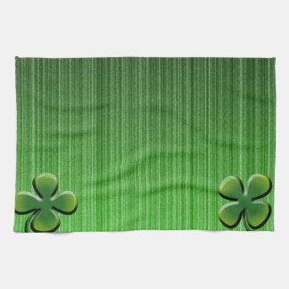 Trébol de la hoja del verde cuatro toallas de cocina