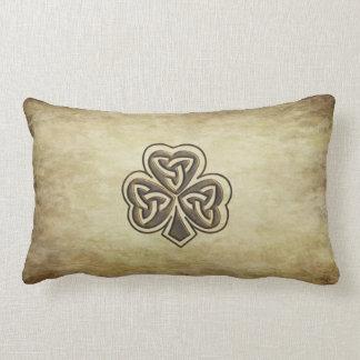 Trébol de moda del irlandés del grundge del cojín lumbar