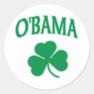 Trébol de Obama Pegatina Redonda