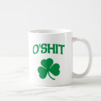 Trébol de O'Shit Irsh Tazas De Café