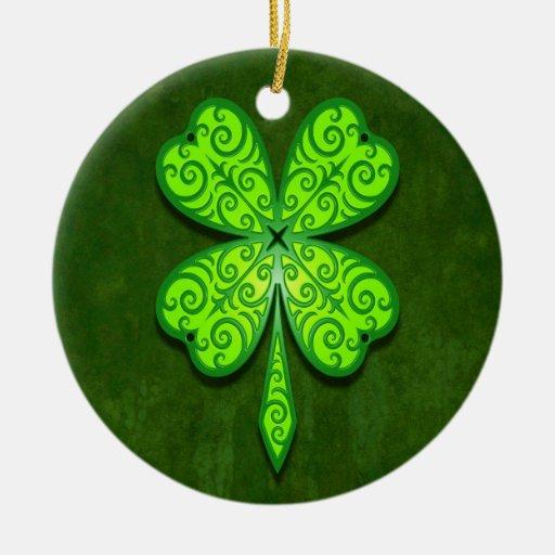 Trébol decorativo de cuatro hojas adorno para reyes