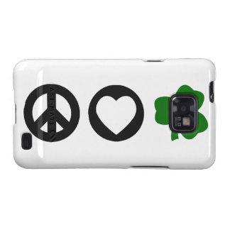 Trébol del amor de la paz galaxy s2 carcasa