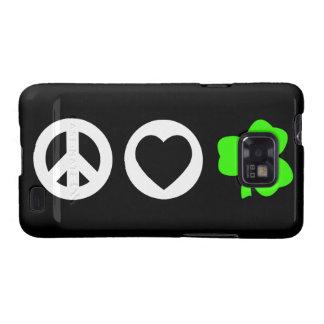 Trébol del amor de la paz galaxy s2 funda