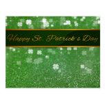 Trébol del brillo del día de los ´s de St Patrick  Tarjetas Postales