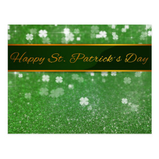 Trébol del brillo del día de los ´s de St Patrick  Postal
