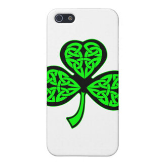 Trébol del Celtic de 3 hojas iPhone 5 Coberturas