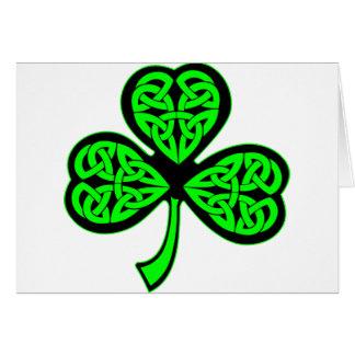 Trébol del Celtic de 3 hojas Tarjeta De Felicitación