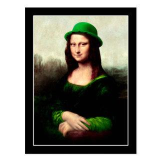 Trébol del día de Mona Lisa St Patrick afortunado Postales