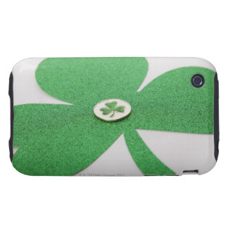 Trébol del día de St Patrick iPhone 3 Tough Cárcasa
