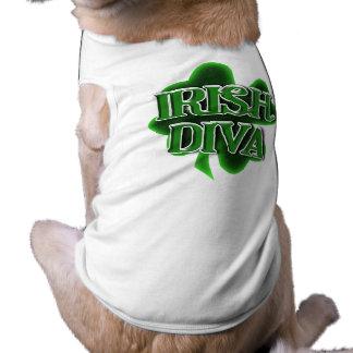 Trébol del día de St Patrick IRLANDÉS de la DIVA Camisetas De Perro