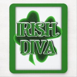 Trébol del día de St Patrick IRLANDÉS de la DIVA Alfombrilla De Ratón