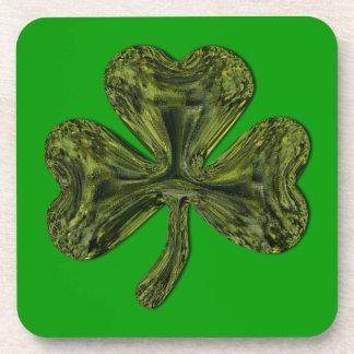 Trébol del día de St Patrick Posavasos De Bebidas