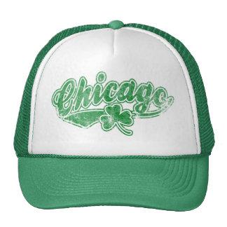 Trébol del irlandés de Chicago Gorro De Camionero