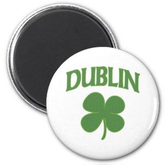 Trébol del irlandés de Dublín Imán Redondo 5 Cm