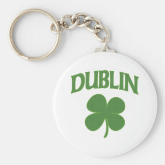 Trébol del irlandés de Dublín Llavero Redondo Tipo Pin