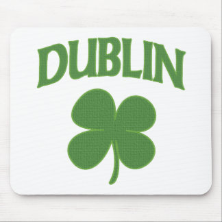 Trébol del irlandés de Dublín Tapete De Ratón