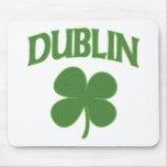 Trébol del irlandés de Dublín Alfombrillas De Ratón