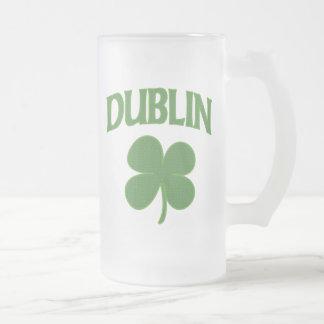 Trébol del irlandés de Dublín Taza De Cristal