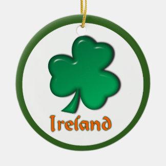 Trébol del irlandés de Irlanda Adorno Redondo De Cerámica