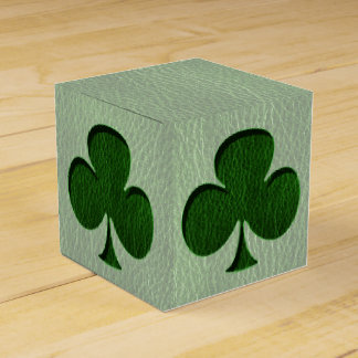 Trébol del irlandés de la Cuero-Mirada Cajas Para Detalles De Boda
