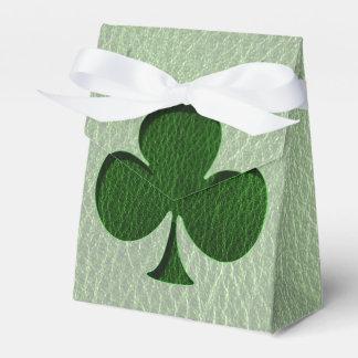 Trébol del irlandés de la Cuero-Mirada Caja Para Regalos