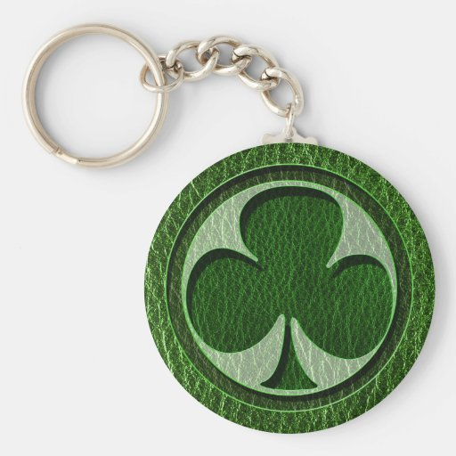 Trébol del irlandés de la Cuero-Mirada Llaveros Personalizados