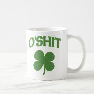 Trébol del irlandés de O'Shit Taza De Café