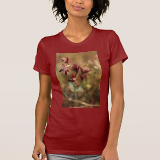 trébol del pie de la liebre, hojas 2 del rojo camiseta