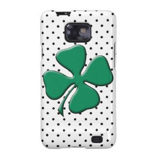 Trébol del verde del día de St Patrick de encargo Samsung Galaxy SII Carcasas