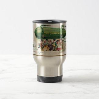 Trébol del vintage taza de viaje