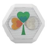 trébol en colores irlandeses de la bandera altavoces bluetooth blancos boombot REX