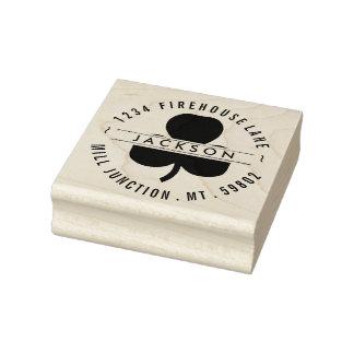 Trébol en sello del remite del círculo
