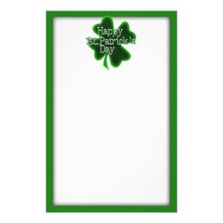 Trébol feliz del día del St. Patricks Papeleria