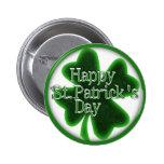 Trébol feliz del día del St. Patricks Pins