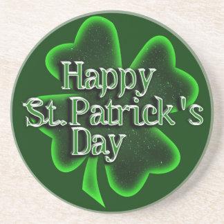 Trébol feliz del día del St. Patricks Posavasos Manualidades
