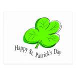 Trébol feliz del día del St Patricks Postal