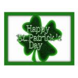 Trébol feliz del día del St. Patricks Postales
