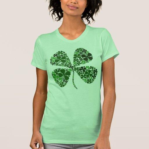 Trébol infinito de la hoja de la suerte 4 camiseta