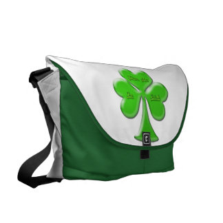 Trébol irlandés #1 bolsa messenger