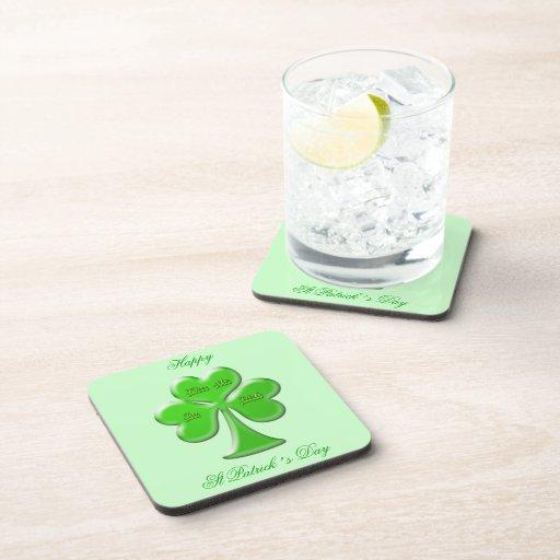 Trébol irlandés #1 posavasos de bebidas