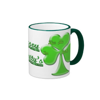 Trébol irlandés #1 tazas de café