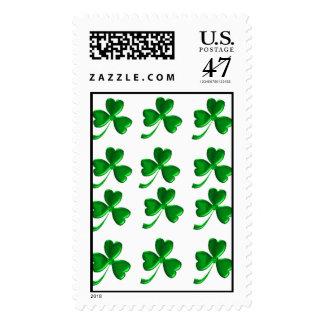 Trébol irlandés 1lrg timbres postales