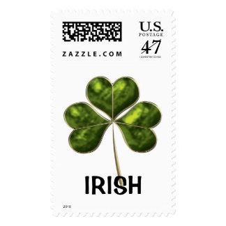 Trébol irlandés 2c-lrg sello postal