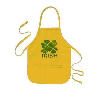 Trébol irlandés 4-Leaf Delantal Infantil